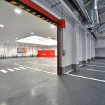 Entrada al parking del Centro de Servicio al Automóvil de Mapfre