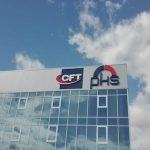 Fachada con logo de la nave PKS CFT