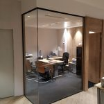 Mamparización aclistalada para crear nuevos espacios de trabajo