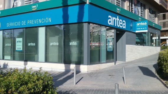 Fachada de oficina en Alicante