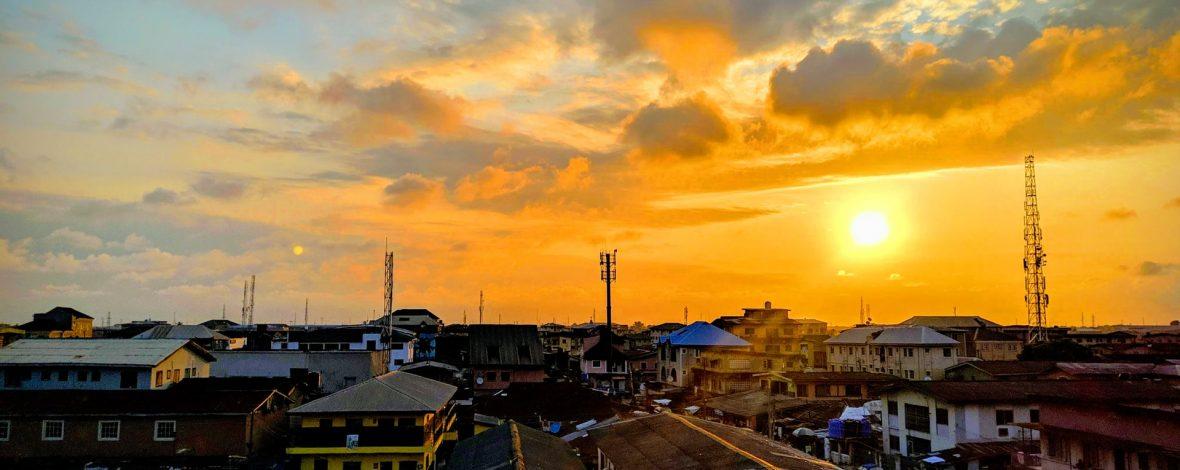 nigeria en atardecer